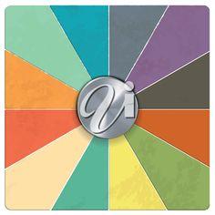 iPHOTOS.com - Clip Art Illustration of a Chrome Dial on Retro Style Segmented Background #clipart #illustration #retro