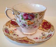 TUSCAN FINE ENGLISH BONE CHINA TEA CUP & SAUCER - PROVENCE PATTERN - ENGLAND