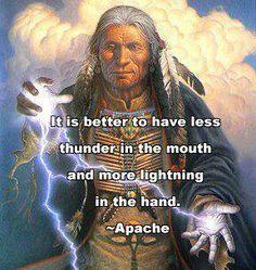 Less thunder and more lightning