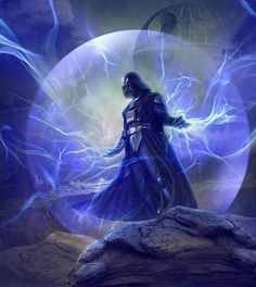 The dark lord of the Sith Darth Vader surrounded by darkside force energy surrounding him. Art by Gary Inthasane Check out more darkside art here. Star Wars Fan Art, Star Wars Saga, Vader Star Wars, Star Wars Pictures, Star Wars Images, Sith Lord, Star Wars Wallpaper, Star Wars Poster, Love Stars