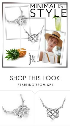 """""""Long Way 925 Sterling Silver Good Luck Irish Celtic Knot Heart Vintage Pendant Necklace"""" by almin-sturm ❤ liked on Polyvore featuring Gaia, vintage, shop, jewerly, fashionset and fashionme"""