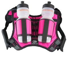 HydraQuiver Double Barrel Hydration Pack: Ideal for runners with larger chest diameters and for runs greater than 2 hours. Double Barrel, Hydration Pack, Mud, Runners, Larger, Packing, Backpacks, Orange, Bags