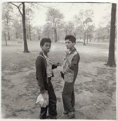 Two boys smoking in Central Park, 1963 |  Diane Arbus