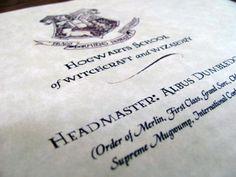 Harry Potter Acceptance Letter  Wizarding World