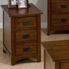 Nebraska Furniture Mart – Jofran Mission Hill Oak End Table with 3 Drawers