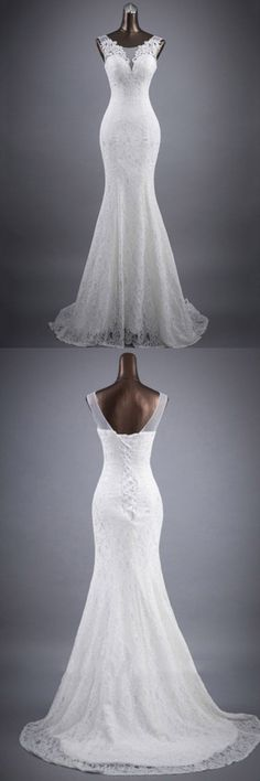 Scoop Neck Appliques Lace Trumpet/Mermaid Wedding Dress, Shop plus-sized prom dresses for curvy figures and plus-size party dresses. Ball gowns for prom in plus sizes and short plus-sized prom dresses for Bridesmaid Dresses 2018, Wedding Dresses 2018, Cheap Prom Dresses, Bridal Dresses, Backless Lace Wedding Dress, Lace Mermaid Wedding Dress, Mermaid Dresses, Dress Lace, Dress Wedding