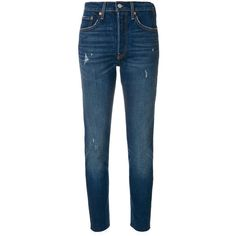 Levi's 501 skinny jeans ($200) ❤ liked on Polyvore featuring jeans, blue, cut skinny jeans, skinny fit denim jeans, skinny jeans, levi skinny jeans and skinny leg jeans