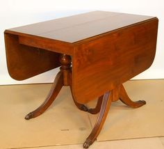 Duncan Phyfe Style Drop Leaf Mahogany Table with 3 Leaves 97 inches Long C1935 | eBay $475