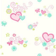 Wilko Heartfelt   Wallpaper Pink