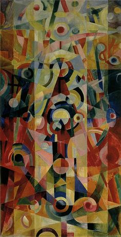 Johannes Itten (1888-1967)   /   Ascension and Pause 1919