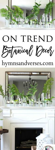 On Trend Botanical Decor - Hymns and Verses