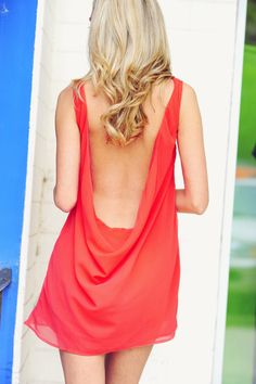 Back In Action Dress: Deep Coral