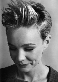 Styling short hair in the opposite of the intended direction, á la Carrie Mulligan, can get you through a styling rut (or those days right before your next trim!). Tip from @Tamara - Trademark Image Consulting Blow-drying your hair in the opposite direction will give your hair more body as well.