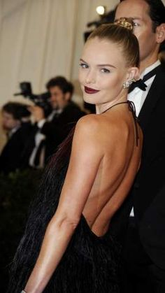 Kate Bosworth with trending plum lips