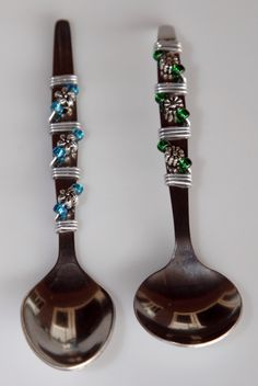 beaded spoons-I am going to start making these. Saw them at a craft market, I should probably start selling my bead work, and I wont ask as much as those ladies xD