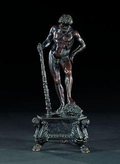 HERCULE OU DAVID D'après un modèle d'Antonio del POLLAIUOLO (1431-1498) Italie du Nord, début du XVIe siècle