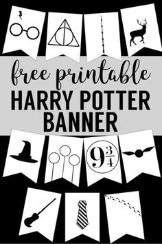 Harry Potter Hogwarts icon banner for … Harry Potter Banner Free Printable Decor. Harry Potter Hogwarts icon banner for party decor , bedroom decor or birthday party decorations. Baby Harry Potter, Baby Shower Harry Potter, Harry Potter Motto Party, Harry Potter Fiesta, Harry Potter Banner, Cumpleaños Harry Potter, Harry Potter Classroom, Harry Potter Printables, Harry Potter Bedroom