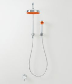 Bathroom - Shower head - I like this [colour accent] - Similar design around like this Mark Newson?