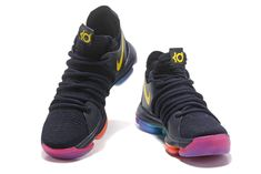 save off 36ca1 763c3 Discount Nike KD 10 Be True Black Yellow Colorful Nike Zoom KD X 10  Basketball Shoes Wholesale
