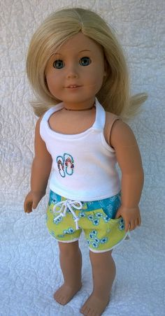 American Girl Doll ClothesShorts Outfit by PixieandLackie on Etsy, $17.00