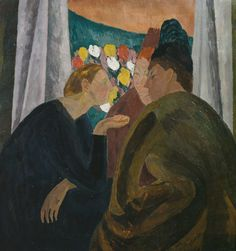 Vanessa Bell 1879–1961 Conversation 1913–16 Oil paint on canvas 866 x 810 mm