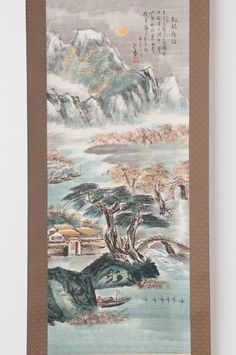 Check out Chinese hanging scroll Landscape painting Antique wall art hs0612  http://www.ebay.com/itm/Chinese-hanging-scroll-Landscape-painting-Antique-wall-art-hs0612-/122007504313?roken=cUgayN&soutkn=wUd0ay via eBay