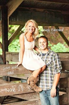 Country Engagement Photos - Save the date card can set the style of the wedding and your guests will know what to expect. See our creative Save the date photo ideas for inspiration! Couple Photography, Engagement Photography, Photography Poses, Cute Wedding Ideas, Wedding Pics, Wedding Venues, Wedding Photoshoot, Engagement Couple, Engagement Photos