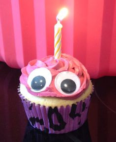 This is Cupcake Carl from Five Nights at Freddy's! Made these for a friend for her daughters birthday!