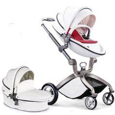 Luxury Baby Travel System Pushchair Pram High View Infant Baby Stroller  #Unbranded