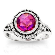 @Jacqueline Champlin Sterling Silver Rainbow Pink Quartz Ring: Jewelry: Amazon.com