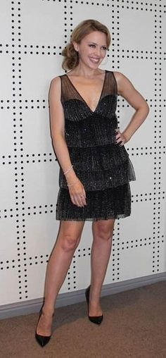 """Kylie Minogue wears the Azzaro dress """"Mirage"""" from the FW12-13 collection for the New Year's Celebration #kylieminogue #azzaro"""