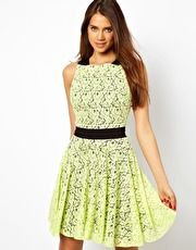 Hybrid Lace Skater Dress with Tie Waist Get 7% cash back at http://www.studentrate.com/all/get-all-student-deals/ASOS-Student-Discount--/0