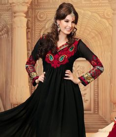 Lend that much coveted grace to your outfit with this pretty suit! In one swift move  these exquisite piece can instil a dash of feminity coupled with ethnicity and beauty!BRAND: MayahCATEGORY: Unstitched Suit with DupattaARTICLECOLOURMATERIALLENGTHTopBlackGeorgette2.50 metersBottomMaroonGeorgette2.50 metersDupattaMaroonGeorgette2.50 metersWe would always want to send you what we showcase but there might be a slight variation in color due to photographic effects.  Also note that styling is…