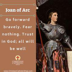✝📕 Saint of the Day 🙏🏻 Go forward bravely.-Joan of Arc Catholic Religion, Catholic Quotes, Catholic Prayers, Catholic Saints, Religious Quotes, Saint Joan Of Arc, St Joan, Holy Mary, Joan Of Arc Quotes