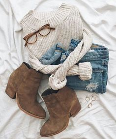 Wie trägt man Wildleder-Booties 20 Outfit-Ideen – RC – Join the world of pin Fall Winter Outfits, Autumn Winter Fashion, Winter Clothes, Winter Boots, Winter Style, Summer Outfits, Teen Fall Outfits, Comfy Fall Outfits, Fall Outfits 2018