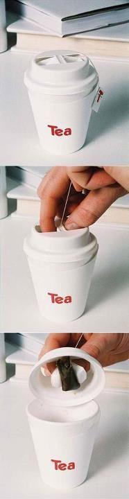 Tea bag lid (packaging design). Smart! #smart #packaging #idea #tea
