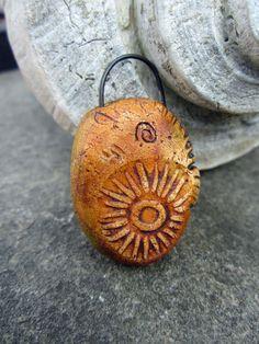 Rustic Sun Totem Focal Pendant Bead Artisan by SLArtisanAccents, $12.00