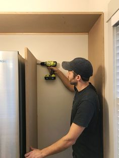 """Learn how we constructed DIY pantry shelves in our beach house using a simple construction technique and just two materials: MDF panels and 1x2"""" boards."""