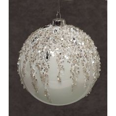 Best Christmas Tree Decorations, White Christmas Ornaments, Christmas Crafts To Sell, Classy Christmas, Christmas Holidays, Ball Ornaments, Holiday Decor, Natal Natural, Glass Ball