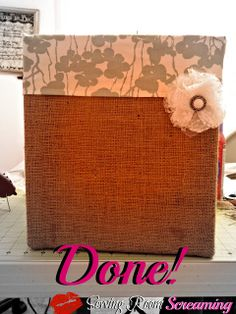 Sewing Room Screaming: Burlap Covered Boxes
