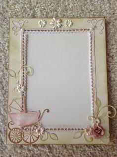 Foto rámeček pro holčičku, z materiálu od Pretty Papers