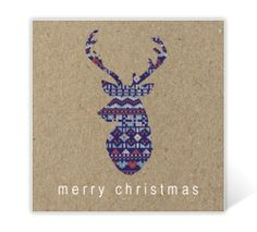Christmas card with colourful deer