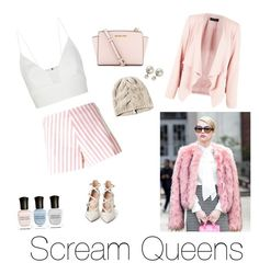 """""""Scream Queen costume. Easy and simple"""" by chasittypacheco ❤ liked on Polyvore featuring Gianvito Rossi, MICHAEL Michael Kors, Drome, Narciso Rodriguez and Deborah Lippmann"""