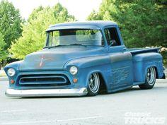 1956 Chevrolet 3100 blue patina