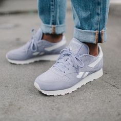 Sneakers femme - Reebok Classic Leather Suede Core Moon Violet (©urbanoutfitterseu)