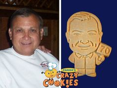 Celebrate your husband's 70th birthday with custom cookies from Parker's Crazy Cookies. Personalized the way you want, these party favors are both yummy and super creative!
