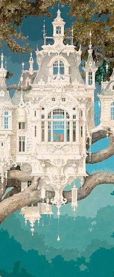 Daniel Merriam #fairy #tale #castle