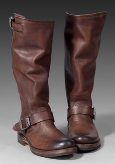$328 - Frye Veronica Slouch in Dark Brown.