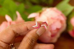 Cherish - Hand Painted Wooden Stud Earrings (Chevron) – Naoi