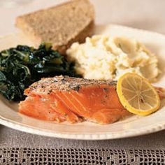 Roasted Wild Salmon and Dill | MyRecipes.com